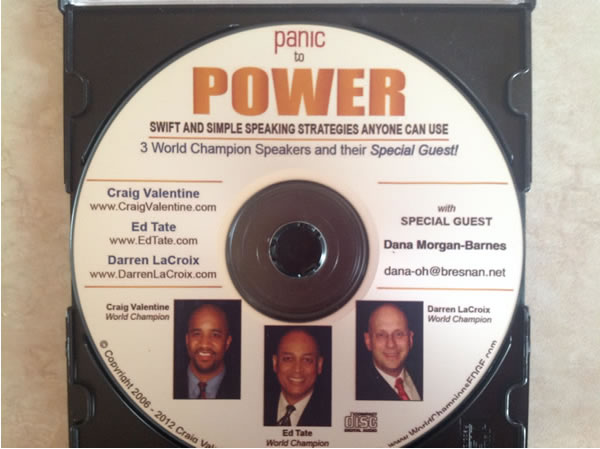Panic to Power CD by Darren LaCroix, Ed Tate, David Valentine and Dana Morgan-Barnes
